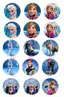 "Frozen Bottle Cap Images , scrapbooking, bows, 1"" circles"