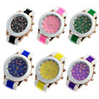 1PC Double Color Silicone Rubber Quartz Analog Sports Wrist Watch Gift Tide