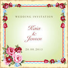 Wedding Invitations Day Evening Personalised shabby chic vintage **Free Draft**