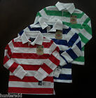 NWT Ralph Lauren Boys LS Striped Crested Rugby Shirt SZ 5 6 or 7 NEW $45 4e