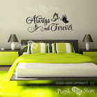Always and Forever Butterflies Vinyl Home Wall Quote Decal Sticker Decorative