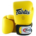 FAIRTEX MUAY THAI KICK BOXING GLOVES YELLOW COLOR BGV1 TIGHT FIT DESIGN SPARRING
