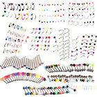 DECENT 20X GREAT RHINESTONE EYEBROW NOSE LIP TONGUE BELLY NAVEL BUTTON BODY RING