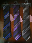 BNWT Mens Ted Baker Knotted Luxury Pure Silk Ties Stunning Stripe Design RRP£40
