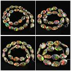 13x10x4mm Variscite & pyrite ellipse teardrop loose beads,more size to select