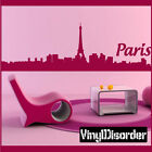 Paris Vinyl Wall Decal Or Car Sticker - paris02EY