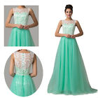 Girl Sleeveless Bridesmaid Party Evening Long Dress Formal Prom Graduation Gown