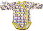 LONG SLEEVE BODYSUITS WITH POPPER OPENING UP TO 3 MONTHS,0-3/3-6/6-9 BABY GIRL