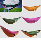 1* Portable Parachute Nylon Fabric Hammock Travel Camping Two Person Double Size