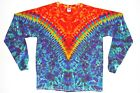 Adult Long Sleeve TIE DYE Fire V Blotter art T Shirt 5X 6X hippie grateful dead