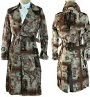 NWT Lip Service Map Trench Coat Step in Time Military Steampunk Leather Pirate