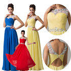 Empire Waist Long Formal Evening Bridal Gown Bridesmaid Prom Dress Party Dresses