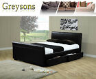 Hanover 4 Drawer Storage Sleigh Bed Brown / Black - 4ft6 Double / 5ft King Size