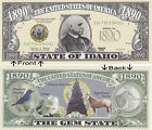 1890 U.S.A. State of Idaho ID Novelty Notes Bills 1 5 25 50 100 500 or 1000