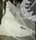 New Cathedral Wedding Lace Edge 3m Long Wedding Bridal Bride Veil White/Beige