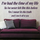DIRTY DANCING TIME OF LIFEdecal wall art sticker quote transfer graphic DAQ18