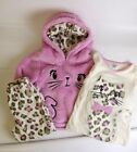 GIRL`S 3 PIECE PJ FLEECE SET BEAUTIFULL PINK COLOR