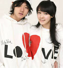 6 Colors Love Heart Lovers Couples Hoodie Leisure Thick warm Women Men DW7005