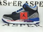 Nike Air Jordan 3 Retro Black Sport Blue Mens Basketball shoes Sneaker136064 007