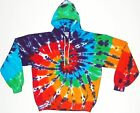 Adult TIE DYE Rainbow Hoodie Sweatshirt grateful dead custom art Small-3XL gypsy