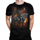 REAPER HORSE T-Shirt, Liquid Blue, sizes M - 6XL , goth, rock, metal, biker
