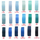 "15y 9mm 3/8"" Turquois Royal Navy Blue Grosgrain Ribbon All Occasions Eco Quality"