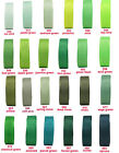 "BUY 3 GET 1 FREE 9mm 3/8"" Moss Emerald Green Shades Premium Grosgrain Ribbon Eco"