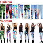 Parent-child outfit anime theme Print Skinny Leggings Kids  + Adult Tights Pants