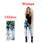 Alice dream travel Print Leggings Kids + Adult Tights Pants Parent-child outfit
