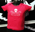Sea Shepherd Baby T Shirt Pink -Blue Jolly roger