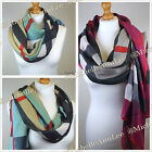 T010 Large Ladies Check Scarf Stole/Wrap/ Shawl/ Party Cover Up/ UK Free P&P