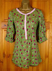 NEW FAB WHITE STUFF LADIES GREEN RED FLORAL TUNIC SHIRT BLOUSE TOP UK SIZE 8-18