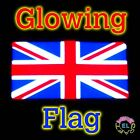 GLOWING Union Jack UK Flag Sticks to Car Window or Worn for Jubilee Olympics