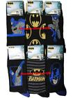 6 Mens Batman 100% Official Cartoon Novelty Character Socks / UK 6-11