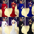 Fashion Women Sexy Prom Ball Cocktail Party Dress Long Sleeve Formal Party