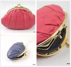 T001 LADIES SOFT REAL LEATHER BALL CLASP CLUTCH PURSE /WALLET COIN HOLDER UK P&P