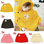 Unique design Chic Cute Baby Toddler Kids Knitted Scarf Wrap Cappa With a Bear