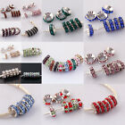 Wholesale Crystal Big Hole 18KGB European Charm Beads Fit Bracelet PB354-368