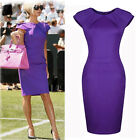 New Celebrity OL Purple Business Tunic Bodycon Sheath Evening Party Pencil Dress