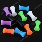 2pc 4mm-14mm Double Flare Drum Flexible Silicone Ear Tunnels Plug Expander Jewel