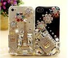 Handmade Paris Perfume Crystal Bling Diamonds Case Cover For iPhone6 & 6 Plus XC