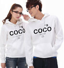 EW5042 7 Colors No9 COCO Lovers Couples Hoodie Coat Sweater Thick warm Men Women