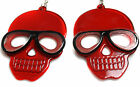 BIG Skulls Earrings Cute Halloween Colourful Girls Hipster Party Novelty Hook