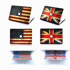 """2in1 US/UK Flag Rubberized Hard Case Cover for Macbook Pro 13/15"""" Air 11/13""""inch"""