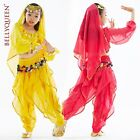 New Children Girl Belly Dance Costume Set Top & Pants 3 Colors Free Shipping