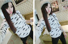 Stylish New Round Neck Long Sleeve Pullover Jumper Sweater shirt Knitwear Tops