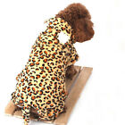 New Dog Pet Leopard Coat Clothes Costumes Outfit Pants Halloween, 5 Size