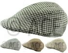 Mens Womens Unisex Country Checkered Check Classic VINTAGE HAT Peak FLAT CAP