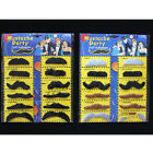 HOT Role-playing fun-colored mustache sticker stylish black fake beard set FO UK