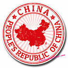 2 x Static Cling Stickers - China Chinese Flag Travel Car Window Decal #0145